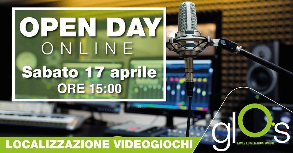 Open Day Online GLOS – sabato 17 Aprile