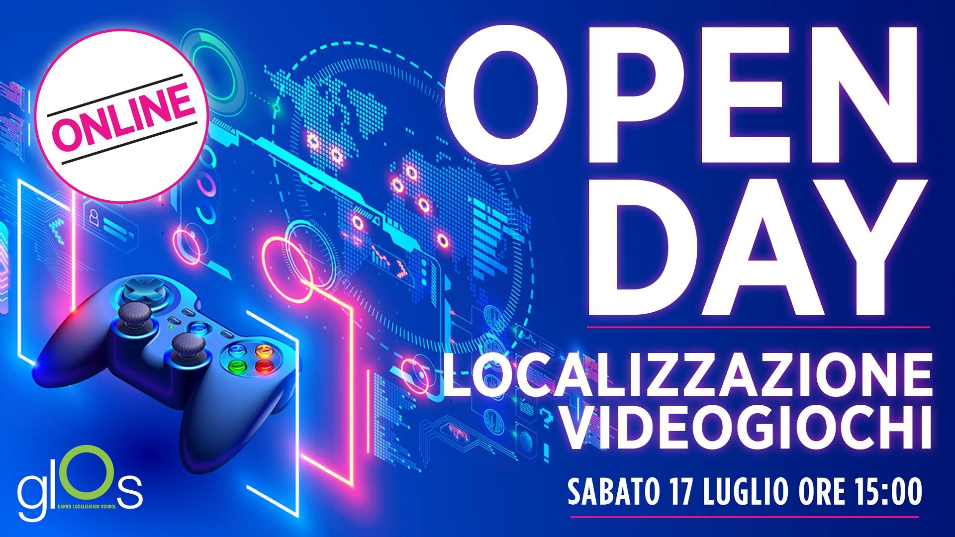 Open Day Online GLOS – Sabato 17 luglio